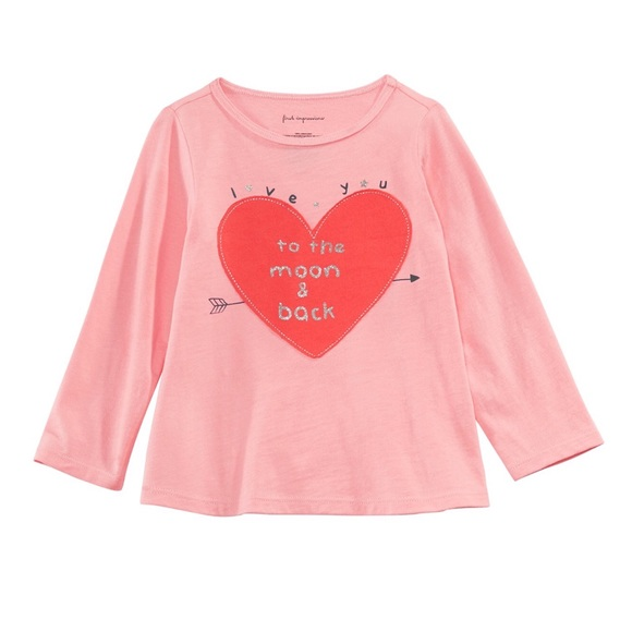 """First Impressions Other - NWT New Impressions Pink/Red """"I ❤️ you"""" Top 18mo"""